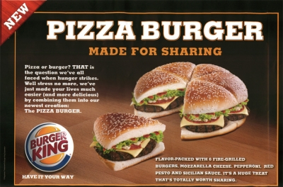 burger pizza burger king